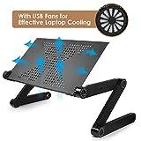 MOSAJIE Laptop Table, Adjustable Laptop Bed