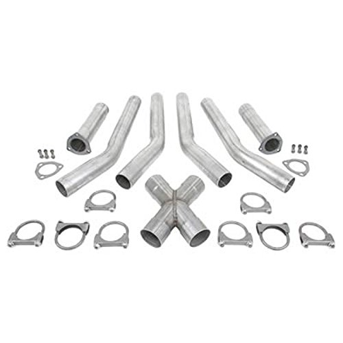 "Exhaust X Pipe Kit 3.00"" Diameter Dual Inlet to 3.00"" Diameter Dual Outlets WXPK300-300 Aluminized Steel Universal Wesdon Exhaust X Pipe Kit"