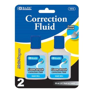 Correction Fluid with Foam Brush (Set of 2) Quantity: Case of 144