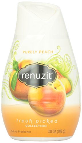Renuzit Adjustables Air Freshener, White Cone Purely Peach, 7.0 Ounce