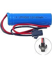 3.2V 600 mAh (14500) LiFeP04 Battery Pack for Gama Sonic Solar Lights
