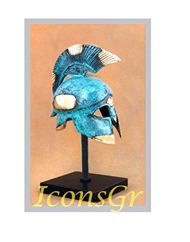 Helmet Museum Replicas (Ancient Greek Bronze Museum Replica of Athenian Helmet on a Base(368-1))
