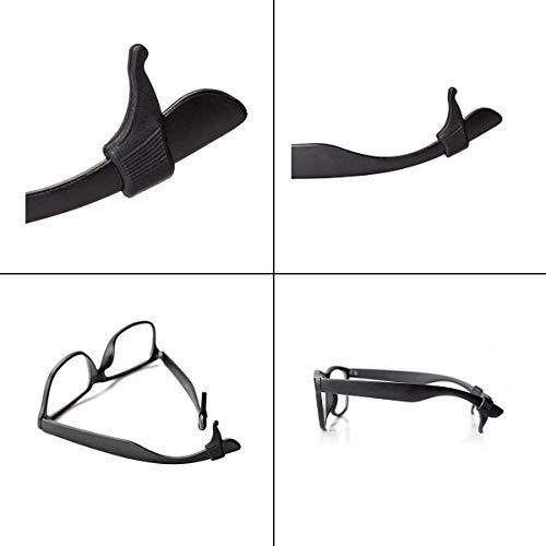 Keepons Ministretch Black Prevent Eyeglass Slipping Anti Slip Anti Slide Eyewear Sunglasses Spectacles Glasses Temple Tips Sports Ear Hooks Sleeves Retainer (2 Pairs)