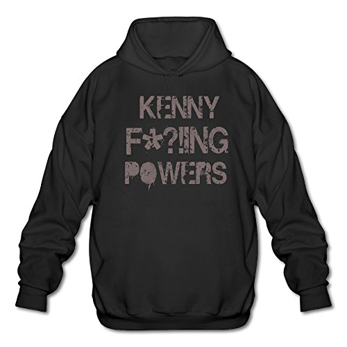 PHOEB Mens Sportswear Drawstring Hoodie Sweatshirt,Kenny F!ing Powers Black Large