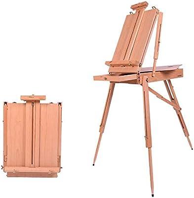 Caballete de Madera Ajustable Pintura al óleo de la Caja Portable ...
