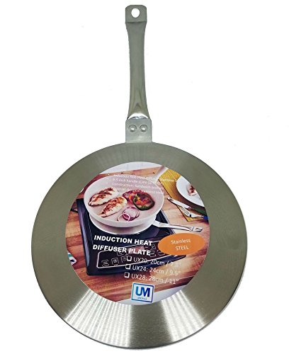 - Upromax Induction Hob Heat Diffuser Stainless Steel, Lite Weight (20cm / 7.8