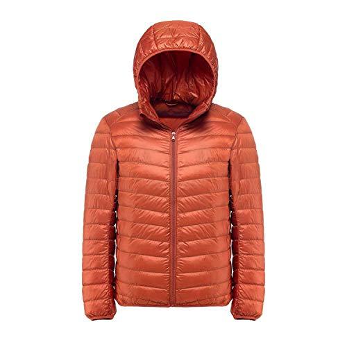 2018 New Casual White Duck Down et Men Autumn Winter Warm Coat Ultralight Male Windproof,Orange,M -