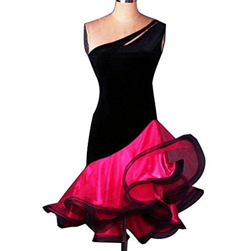 En Arête Robe Dance Costume Poisson Cha Bretelles Couleur Danse Performance Femme Compétition Sans Latine Rose Jupe Collier Pour m Couture De Vêtements Wqwlf Upwd7qxHU