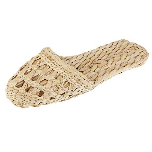 Magideal Paio Mano Uomo Naturale Rattan Bambù Paglia A Pantofole Di Per Donna Fatti Sandali 6Bdnrq6w