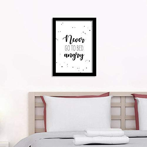 Poster Schlafzimmer - Never go to Bed angry: Amazon.de: Handmade