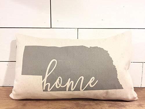 Nebraska Pillow Cover - Home State Pillow Cover - State Pillow - Long Pillow - Lumbar Pillow Cover - ()