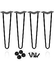 BMOT Set meubilair DIY metalen haarspeldpoten voor tafel en meubels, tafelpoten haarspeld ontwerp met schroeven inbegrepen