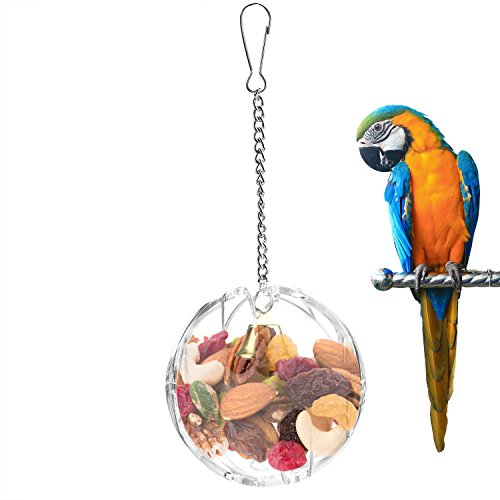 Bvanki Parrot Foraging Toys, Bird Cage Feeder Toys, Parrots Feeder Ball Toys for Cockatiel Budgie Parakeet Amazon Parrot