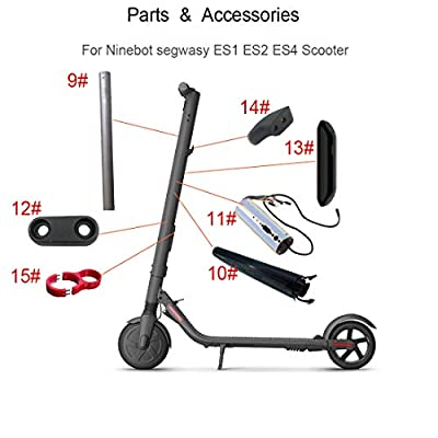 Hoveroid Accessories for The Handlebar Part of The Ninebot Segway ES1 ES2 ES4 Parts Folding Electric Scooter (New) (9# Battery Cabin Assembly) : Sports & Outdoors