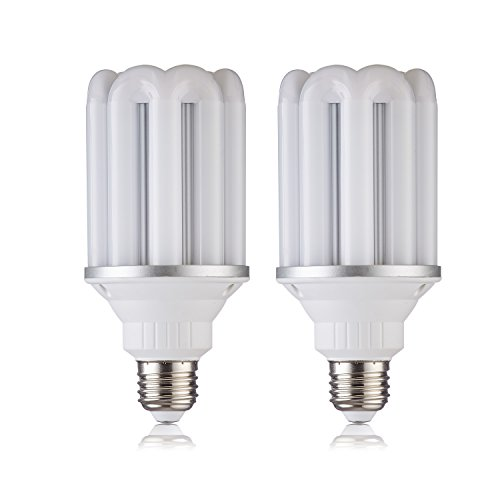 (Pack of 2) 20W LED Corn Bulb E26 base 162 PCS 2835 SMD Replacement 200W Incandescent Bulbs, Energy Saving Home Light Bulbs Lamp with Cover 1800 Lumens Daylight White 5000K No-Dimmable (Cover Mount Aluminum Fan Ceiling Patio)