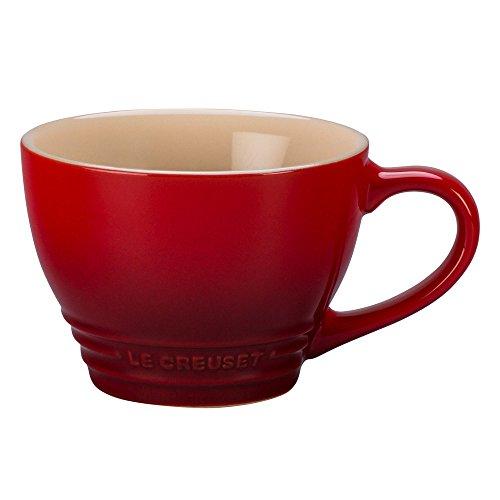 Le Creuset Stoneware Bistro Mug, 14 oz, Cerise (14 Ounce Bistro Mug)