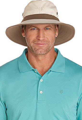 Coolibar UPF 50+ Men's Matchplay Golf Hat - Sun Protective (Small/Medium- (Upf 50 Booney Hat)