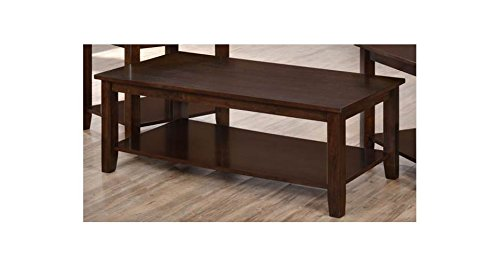 Simmons Upholstery Rectangular Cocktail Table Shelf, Walnut