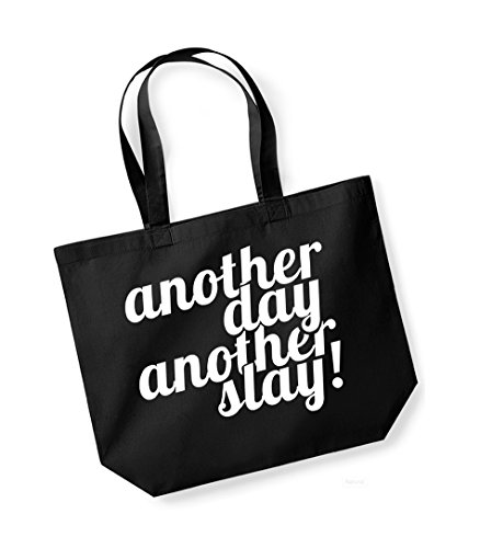 Another Canvas Slogan Tote Cotton Bag Print white Black Slay Unisex Day Kelham wS0p6q7