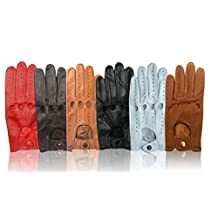 Men's Unlined Driving Gloves Made of Genuine Leather Fashion Driving Biking Riding Trucking Racing Gloves