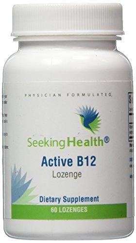 Active B12 Lozenge | Sublingual Vitamin B12 | Provides 4,000 mcg Methylcobalamin and 1,000 mcg Adenosylocobalmin | 60 Lozenges | Non-GMO | Free of Magnesium Stearate | Physician Formulated | - B-12 Lozenges