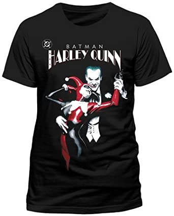f256c0ea Batman T-Shirt Joker & Harley Quinn (Alex Ross) (XXL): Amazon.co.uk:  Clothing