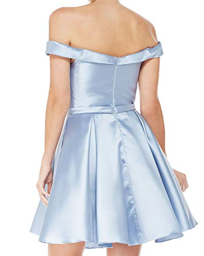 Satin Abendkleider Damen Festlich Partykleider Kurzes Lila Mini Cocktailkleider Charmant Brautjungfernkleider Tanzenkleider w4UqSw