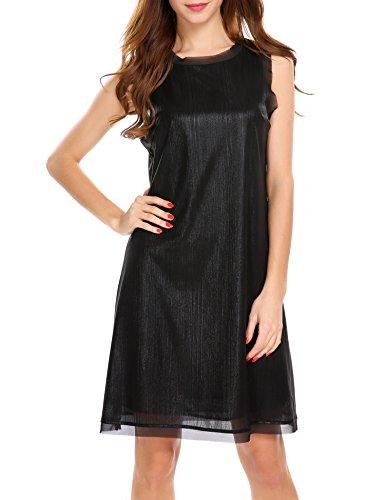 Kurzes paillettenkleid schwarz
