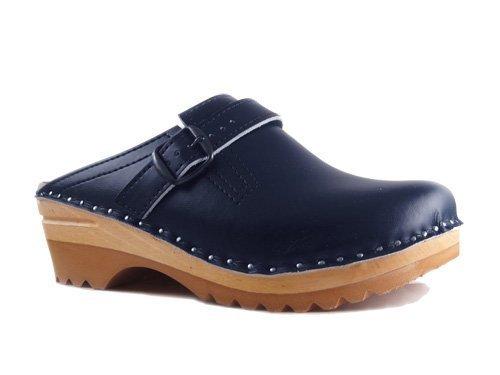 Troentorp Women's EU Raphael stad 37 Clogs Blue Leather B w6Hanrqw