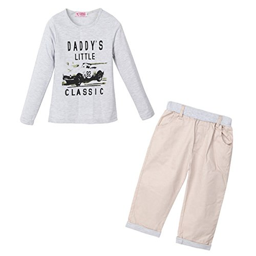Bargain World 2pcs gehen Herbstwinterjungen unter shirt+trousers keucht Trainingsanzug