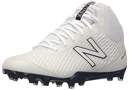 another chance 1dbce 77243 New Balance Men s BURN Mid Speed Lacrosse Shoe, White Blue, 6.5 2E US
