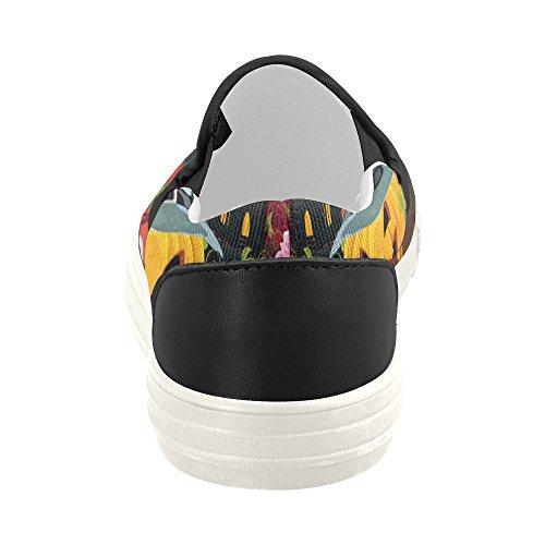 D-histoire Personnalisé Heureux Halloween Citrouille Hommes Slip-on Chaussures De Toile Mode Sneaker Halloween10