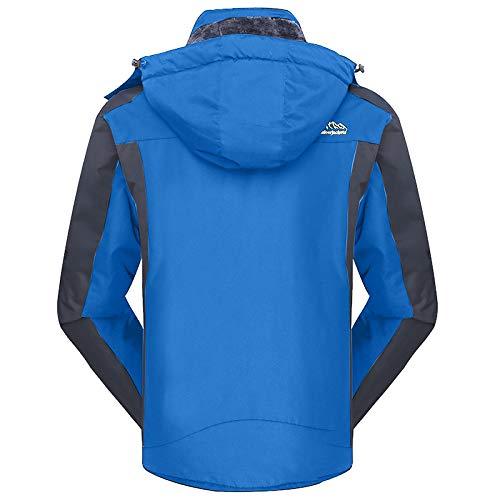 Con Frauit Fodera Cappotto Uomo Cappuccio Sportive Parka Giacca All'aperto Lunga Militare Giacche Ispessimento Jacke Blu Invernale Caldo Eskimo 7r7wSxqR