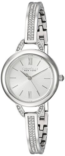 Caravelle New York Women's 43L200 Swarovski Crystal Stainless Steel Watch