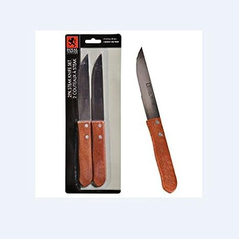 Amazon.com: Royal Norfolk Cuchillos de carne de acero ...