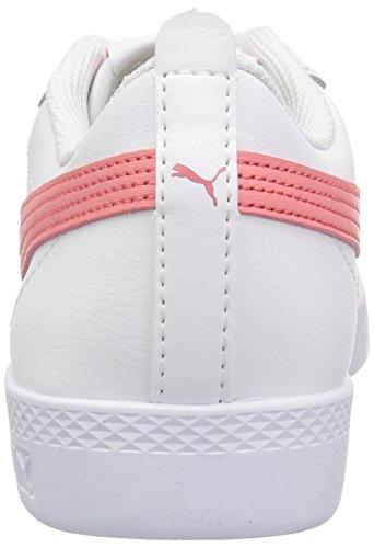 Pink V2 shell Chaussures Pour White Puma L Femme Smash T8wFqaA