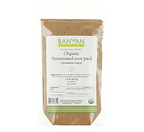 Banyan Botanicals Anantamul Powder - Certified Organic, 1/2 Pound - Hemidesmus indicus - A pitta-balancing herb that supports proper function of the genitourinary system and promotes healthy skin* by Banyan Botanicals