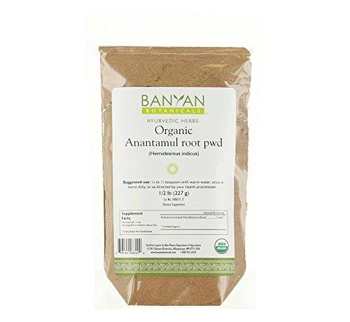 Banyan Botanicals Anantamul Пудра - Органический, 1/2 Pound - Hemidesmus тсИсиз - питта балансировки травы, которые поддерживает правильное функционирование мочеполовой системы и способствует здоровой кожи *