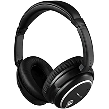Active Noise Cancelling Headphones,Eonfine Stereo ANC Music Gaming Headsets with Inline Mic and Carrying Case for iPhone,iPad,Android Smartphones,PC,Tablet (Black)