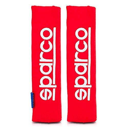 Sparco SPC1204RD Protezioni per Cintura di Sicurezza, Rosso, Set di 2 Car Parts Design Trading Co.Lt