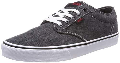 Vans Men's Atwood Skate Shoes (9 D(M) US, Black ((Distressed) Black/White Iq4))