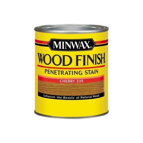 - Minwax 70009444 Wood Finish Penetrating Stain, quart, Cherry