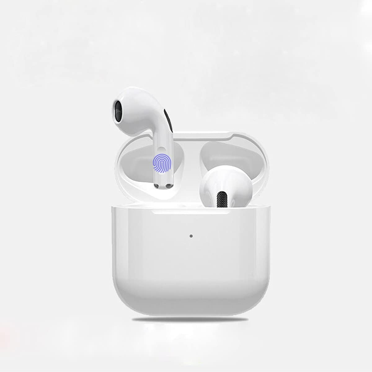 Wireless Earbuds,TWS Bluetooth Headphones, Stereo Headset, with Touch Control Type-C Quick Charge 30H Playtime IPX5 Waterproof Built-in Mic Earphones for iPhone/Android (White)