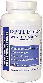 Opti Factor with the NT Factor Nutrient Compound | Reduce Fatigue | Anti Aging | CLINICALLY VALIDATED | 180 Tablets