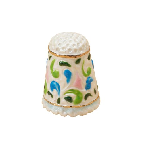 Enesco Jim Shore Heartwood Creek Floral Thimble, 1-Inch (Enesco Thimble)