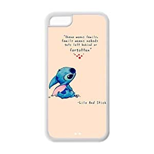 DiyCaseStore Custom Personalized Disney Lilo and Stitch iPhone 5C Best Durable Cover Case - Ohana means family,family means nobody gets left behind,or forgotten.