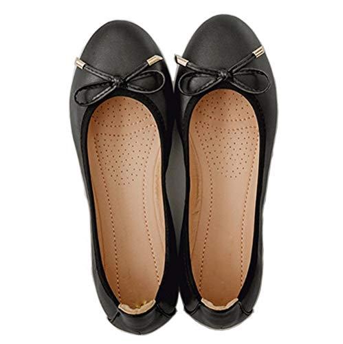FLYRCX Zapatos de Ballet Planos portátiles Plegables de Las Mujeres Zapatos cómodos de la Parte Inferior Suave Zapatos de Las Mujeres Embarazadas, 39 UE 34 EU