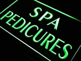 16''x12'' Spa Pedicures Neon Sign LED Lights (green)