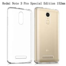 Xiaomi Redmi Note 3 Pro Special Edition case, Heyqie(TM) Thin Transparent TPU Silicone Soft Back Phone Cover Case For Xiaomi Redmi Note 3 Pro Prime Special Edition 152 mm