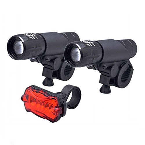 2x CREE LED Head Lights Q5 Front Mount Bike Bicycle Zoomable Waterproof Torch (Mk4 Jetta Headlights Bulb compare prices)